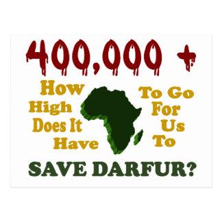 400,000+ DARFUR AWARENESS 1 POSTCARD