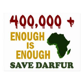 400,000+ DARFUR AWARENESS 2 POSTCARD