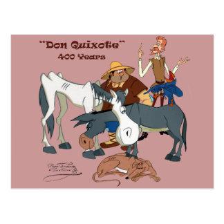 400 años de @QUIXOTEdotTV del Don Quijote Tarjeta Postal
