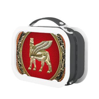 [400] Babylonian Winged Bull Lamassu [3D] Lunch Box