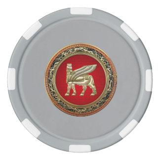 [400] Babylonian Winged Bull Lamassu [3D] Poker Chips Set