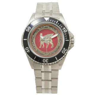 [400] Babylonian Winged Bull Lamassu [3D] Wrist Watch