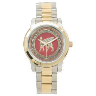[400] Babylonian Winged Bull Lamassu [3D] Wristwatch