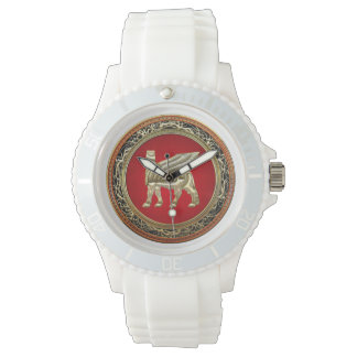 [400] Babylonian Winged Bull Lamassu [3D] Wristwatches