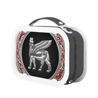 [400] Babylonian Winged Bull [Silver] [3D] Lunch Box