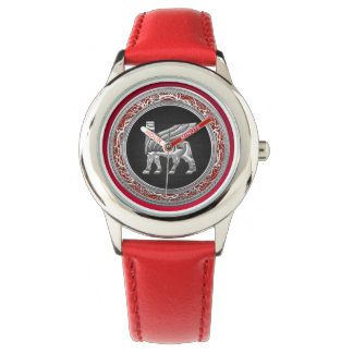 [400] Babylonian Winged Bull [Silver] [3D] Watch
