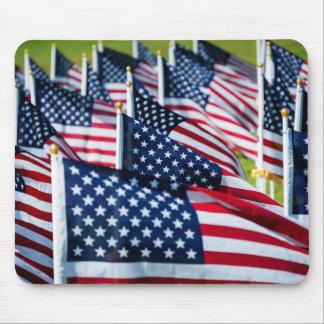 400 banderas que agitan orgulloso en un campo tapetes de raton