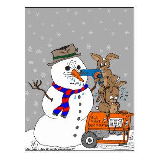 400 bunny carrot heist cartoon postcard