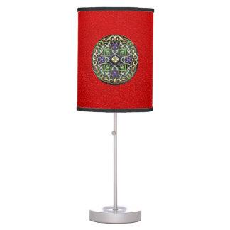 [400] Celtic Cross [Gold with Black Enamel] Table Lamp