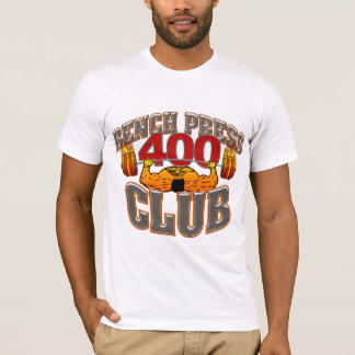 400 Club Bench Press Fitted T-Shirt