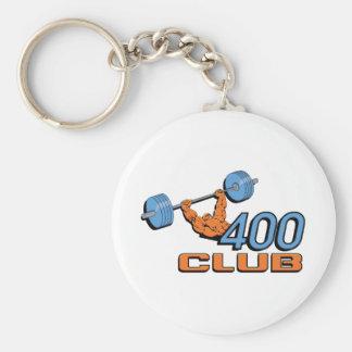 400 Club Weightlifting Key Chain
