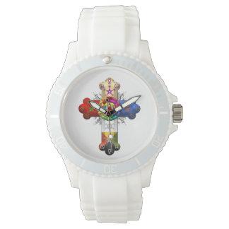 [400] Cruz atractiva (Croix color de rosa) Relojes