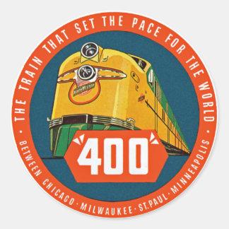 """~ 400 """"el tren que fija el paso """" pegatina redonda"""