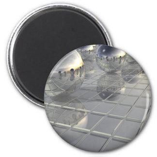 400 esferas de plata imán redondo 5 cm