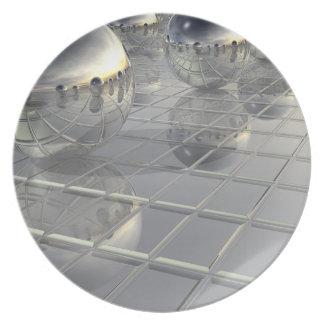 400 esferas de plata platos