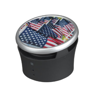 400 flags waving proudly in a field bluetooth speaker