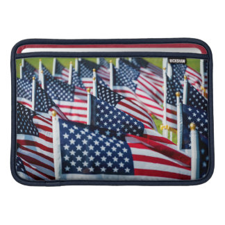400 flags waving proudly in a field sleeve for MacBook air