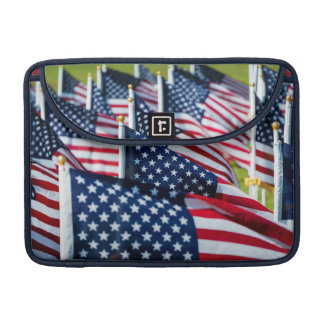 400 flags waving proudly in a field MacBook pro sleeve
