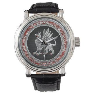 [400] Grifo de plata sagrado Reloj De Mano