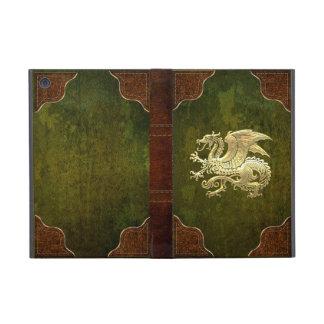 [400] Icelandic Dragon, Landvættir [Gold] Cover For iPad Mini