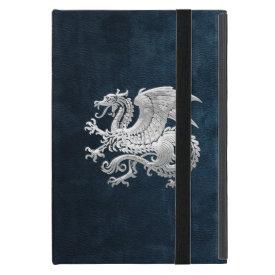 [400] Icelandic Dragon, Landvættir [Silver] iPad Mini Cover