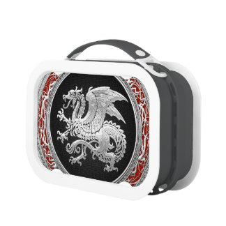 [400] Icelandic Dragon, Landvættir [Silver] Lunch Box