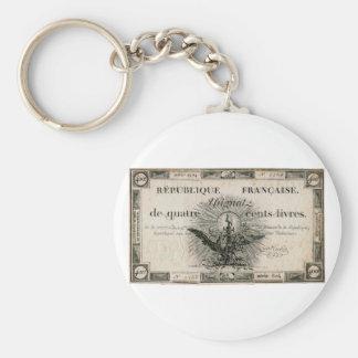 400 Livres French Revolution Assignat Bank Note Keychain