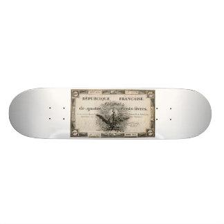 400 Livres French Revolution Assignat Bank Note Skate Decks