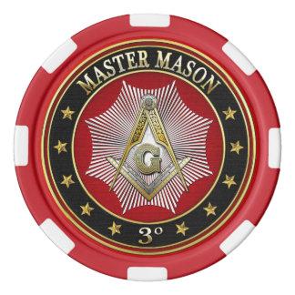 [400] Master Mason - 3rd Degree Square & Compasses Poker Chips