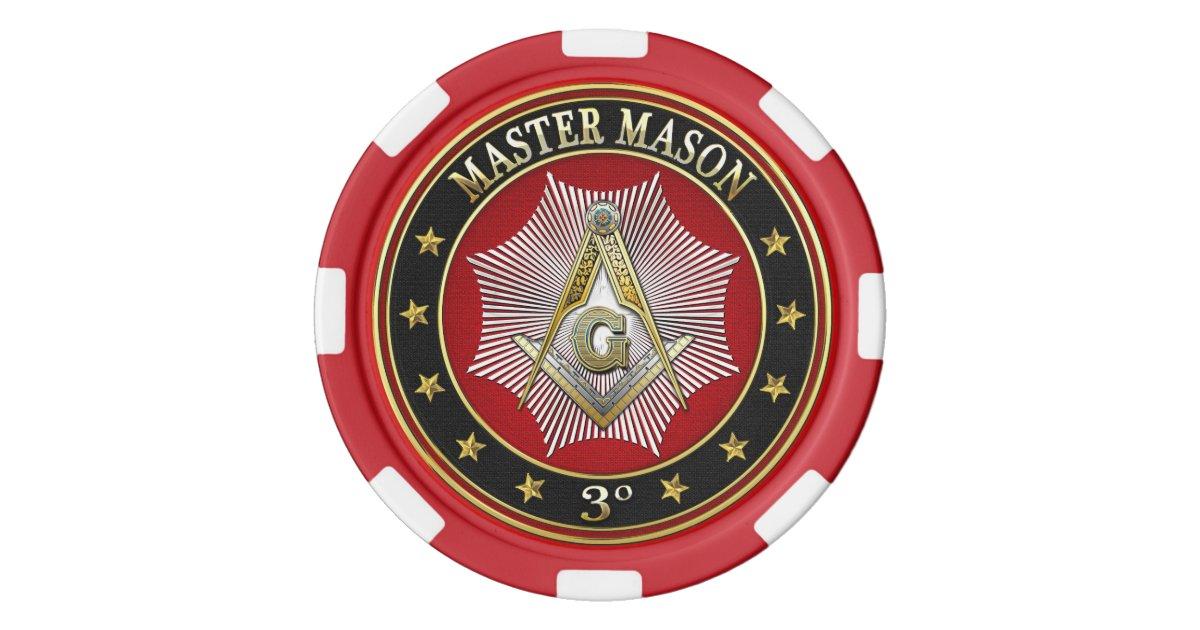 400 Master Mason 3rd Degree Square Compasses Poker Chips
