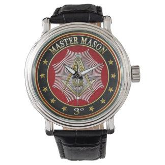[400] Master Mason - 3rd Degree Square & Compasses Wrist Watches