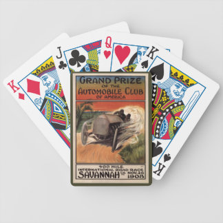 400 Mile ~ International Road Race~Savannah 1908 Bicycle Playing Cards