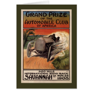 400 Mile ~ International Road Race~Savannah 1908 Card