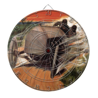 400 Mile ~ International Road Race~Savannah 1908 Dart Board