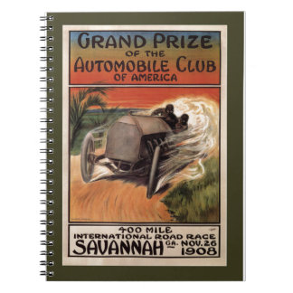 400 Mile ~ International Road Race~Savannah 1908 Notebook