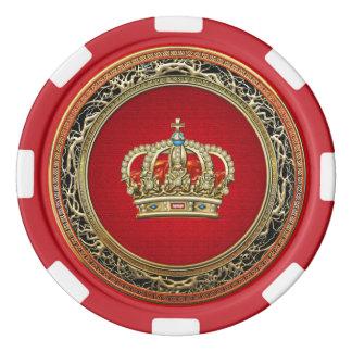 [400] Príncipe-Princesa Rey-Reina Crown Juego De Fichas De Póquer