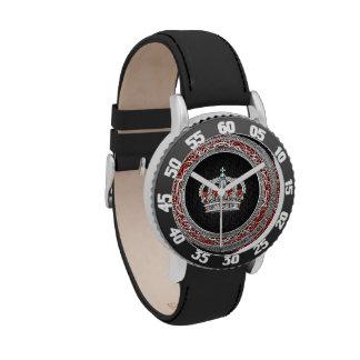 [400] Príncipe-Princesa Rey-Reina Crown [plata] Reloj De Mano