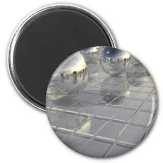 400 Silver Spheres 2 Inch Round Magnet