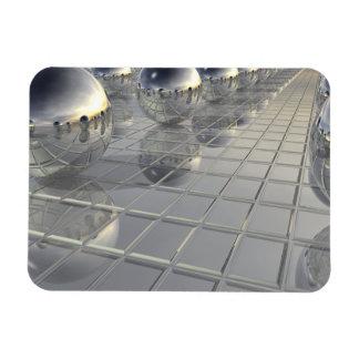 400 Silver Spheres Rectangular Photo Magnet