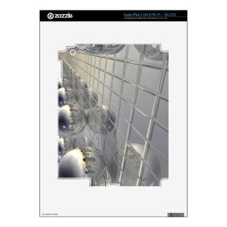 400 Silver Spheres iPad 3 Skin