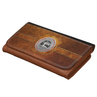 [400] Treasure Trove: Celtic Tree of Life [Silver] Leather Wallet