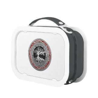 [400] Treasure Trove: Celtic Tree of Life [Silver] Lunch Box