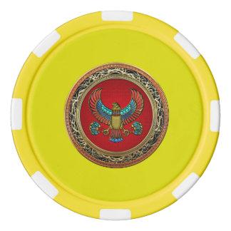 [400] Treasure Trove: Egyptian Falcon Poker Chip Set