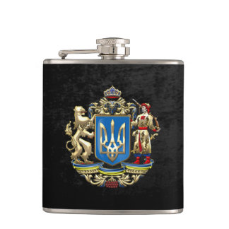 [400] Ukraine: Proposed Greater Coat of Arms Flask