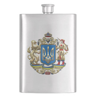 [400] Ukraine: Proposed Greater Coat of Arms Hip Flask