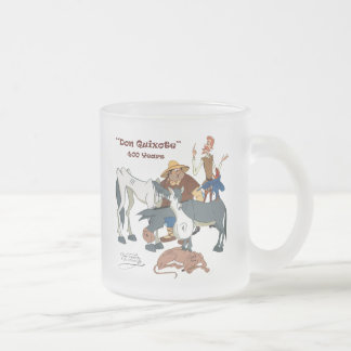 400 Years Don Quixote @QUIXOTEdotTV Frosted Glass Coffee Mug