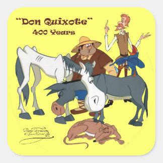 400 Years Don Quixote @QUIXOTEdotTV Square Sticker
