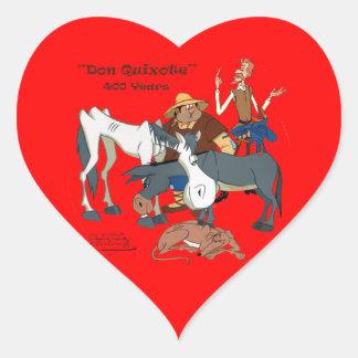 400 Years Don Quixote @QUIXOTEdotTV Heart Sticker