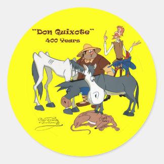 400 Years Don Quixote @QUIXOTEdotTV Classic Round Sticker