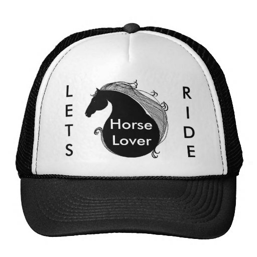 400ppi blank logo, LETS, RIDE, HorseLover Trucker Hat